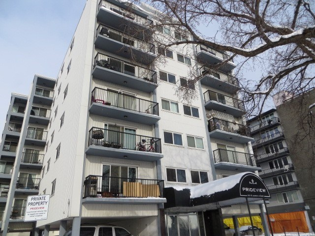Priced to Sell @ only $99,900! This one bedroom condo is ready for you, Plug & Play! It has 605 sq ft, a full bath, an updated galley kitchen, a dining area and living room with access to to the balcony with a river valley view. Lot's of storage with a walk in closet in the bedroom and a full storage room at your door. Complete with one energized parking stall. Unit 206 is on the 3rd floor, the 1st floor is lobby complete with an elevator. In the Prideview Place Condominiums on Jasper Avenue with amazing access to the Heart of the City. A great place to call home!