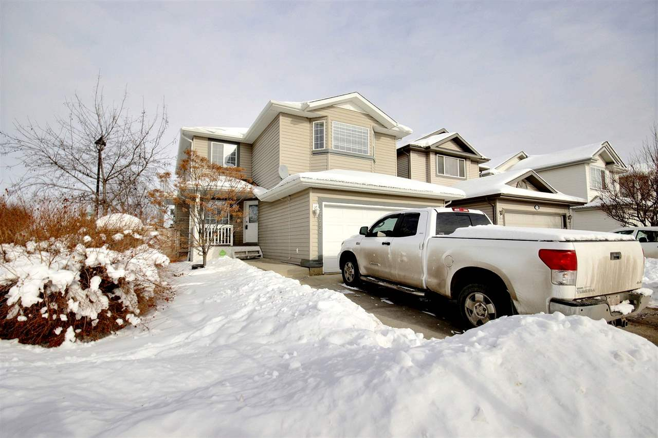 This large 2067 sqft, 2-storey family home offers 4 bedrooms, 4 bathrooms and is finished on all 3 levels. Situated on a corner lot in Suder Greens your steps from a park and playground, new shopping complex, public transit, golfing and schools. Main floor layout includes a flex room perfect for play area, office or formal dining space, spacious great room with large kitchen with granite counters, hardwood floors in the living room with a gas fireplace and finally powder room and laundry. The upper level comes complete with laminate floors, bonus room, 3 bedrooms and a large master with a full walk through closet to your ensuite with jetted tub. Finished basement offers spacious family room, 4th bedroom with a full ensuite perfect for extended family, guests or teenagers.