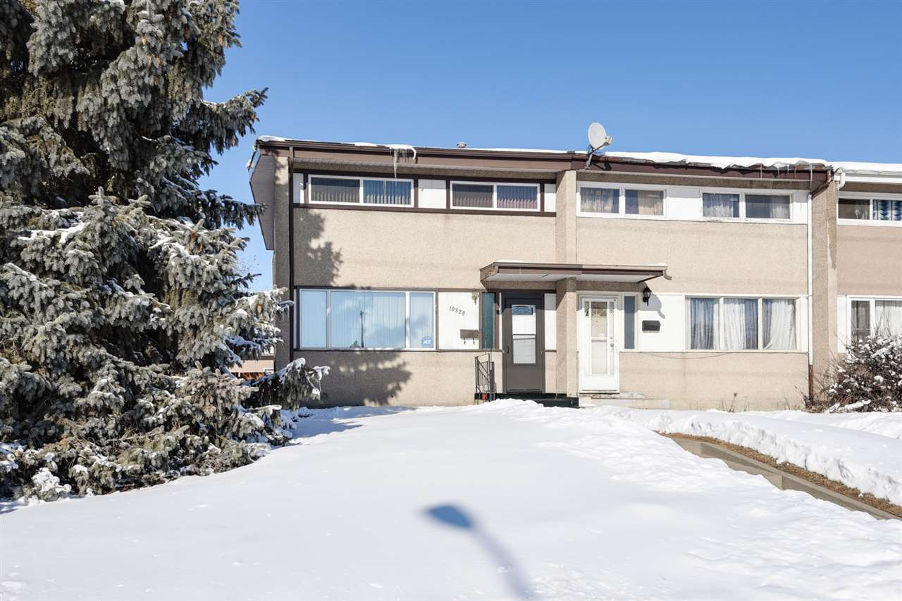 WOW! Check out this lovely one owner home across from the park that has been lovingly looked after for many years. The property features a large corner lot with concrete patio, storage shed plus a heated double garage set up with 220 wiring for a compressor or welder! This 1044 sq. ft 2 storey home has had numerous upgrades including windows and doors (ALL WEATHER WINDOWS 2017) furnace (newer & just cleaned in February), hot water tank (2017), and so much more. There is also hardwood under the living room carpet! The kitchen features rich oak cabinets with black appliances, a lazy susan, new faucet and more. There is a convenient 2 piece bath on the main floor. Upstairs there are 3 bedrooms with vaulted ceilings, a full 4 piece bathroom, super desk area or additional closet space. The basement is partially developed with lots of storage, a family room plus the laundry is located downstairs. 30 yr. shingles on the roof & the garage was just shingled last year. Condo price without the condo fees!