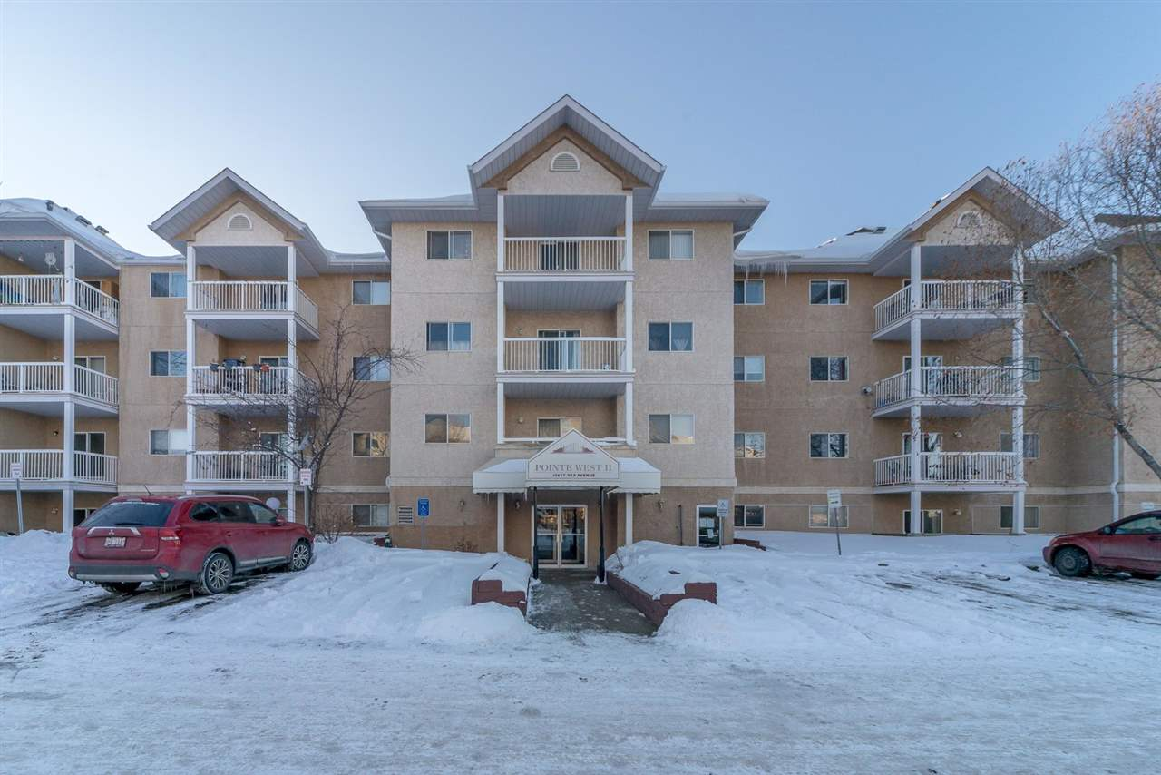 **Seller will pay first 6-months of condo fees!** Fantastic, bright, well maintained one-bedroom in the desirable west end neighbourhood of Terra Losa! This third floor condo unit in a great building (with elevator) comes equipped with central A/C, a covered parking stall directly in front of the unit, upgraded flooring in the entrance and kitchen, newer countertops, kitchen sink/faucet and dining room ceiling fan.  The kitchen comes with 5 appliances including a great ceramic top stove, lots of cabinetry and countertop space, and looks on to the open style living room and dedicated dining room.  The master bedroom is spacious and comes with two closets with built-in shelving.  Additional features include in-suite laundry, a large in-suite storage room and a sizeable balcony great for BBQ'ing.  Pets are allowed with board approval.  Walking distance from shopping and all amenities and only 10 minutes to downtown, this property is a must see!