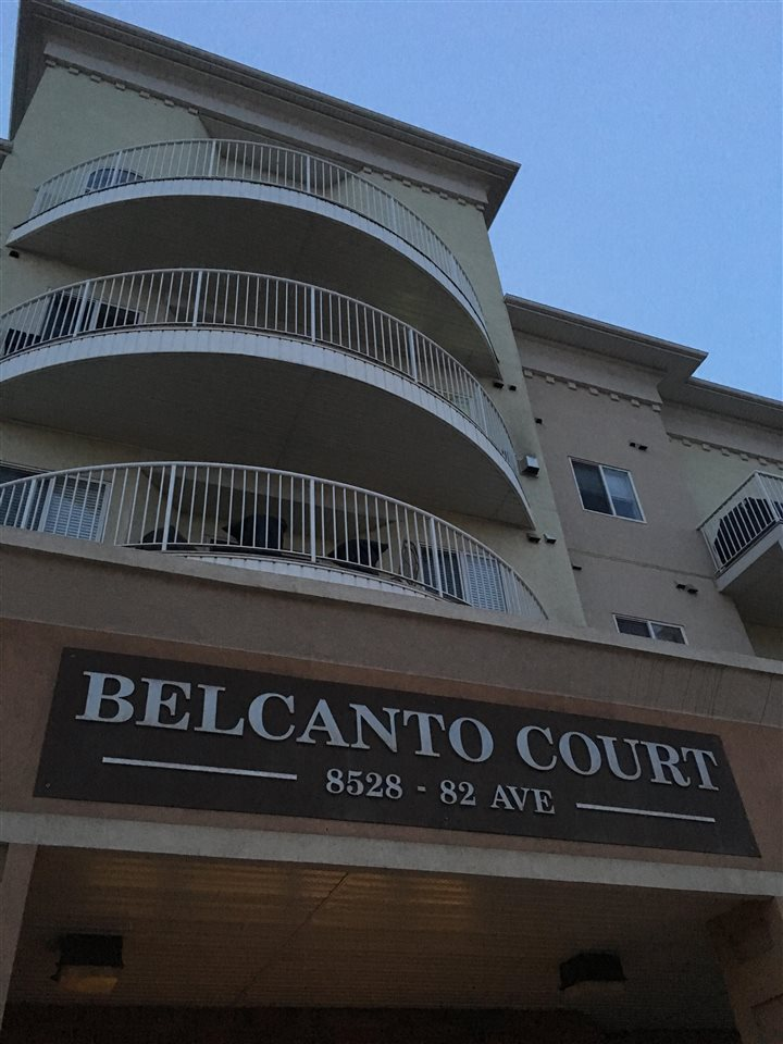 Close to everything; come see this clean, beautiful unit in Belcanto court. Move in ready. Comes with 9' ceilings, hardwood flooring, and fireplace. You can enjoy those hot summer days with central air conditioning while having ample space to entertain guests. Beautiful kitchen with an eating bar and plenty of storage. Your insuite laundry room comes with storage. This building offers handicap access, car wash, guest room and social room. This is 45+ building.