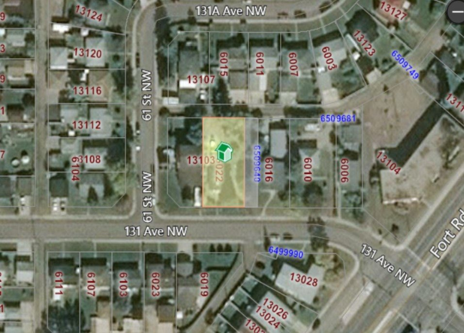 65'x130' Lot Perfect for ReDevelopment! SUBDIVIDE and still have 2 Great Sized Lots! Great Location in a Mature Neighbourhood Close to the LRT with Easy Access to Fort Rd, Yellowhead, Anthony Henday, Shopping, Schools, Restaurants etc! Being sold for LOT VALUE! Home Sold AS-IS.