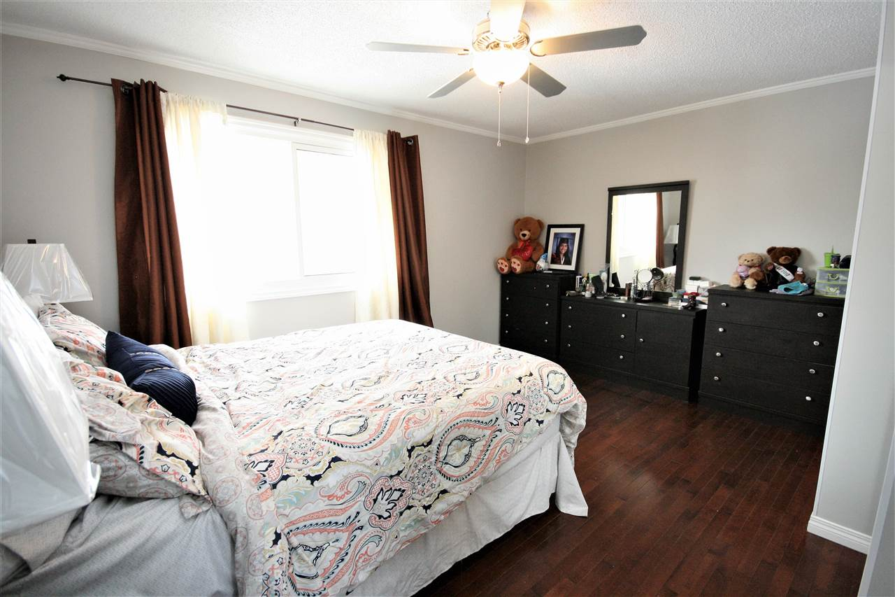 The spacious, king sized master bedroom overlooks the south yard.