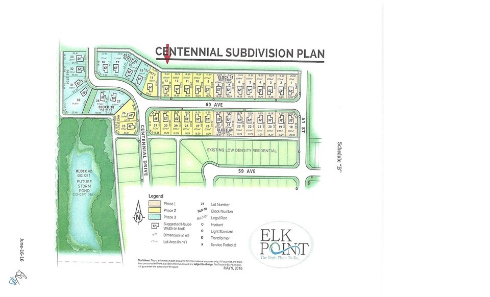 Thinking of building a new home??  Consider Elk Point's newest paved sub-division.  This 60'x125' serviced, south facing lot is located in the Phase 2A-1 Centennial subdivision and is 1 of 14 available lots of various sizes. The town of Elk Point is offering 'building incentives' in the form of cash back based on the time construction is completed. Completion within 1 year will generate 10% cash back on the lot purchase price and 5% if completed and ready for occupancy within 2 years. GST is included in the price.