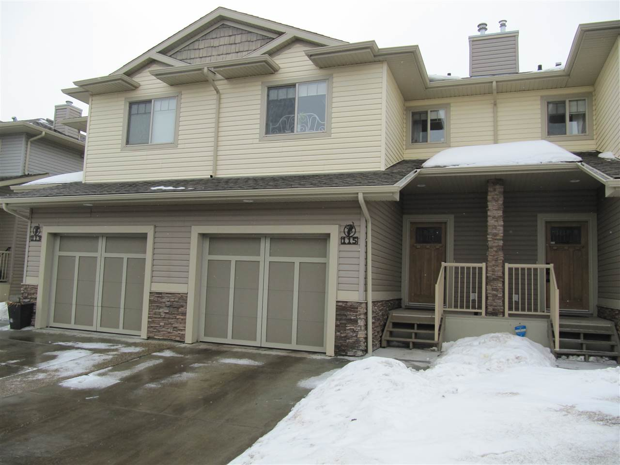 WOW!  CHECK THIS OUT!! YOUR PERFECT STARTER HOME! 1,147 sq ft, 2-storey, townhouse has 3 BEDROOMS + 2.5 BATHS + ATTACHED SINGLE GARAGE! OPEN FLOOR PLAN! LAMINITE flooring throughout! The kitchen has STAINLESS STEEL APPLIANCES with beautiful espresso cabinets & GRANITE countertops with eating bar. A corner GAS FIREPLACE in the living room! Upstairs you?ll find a MASSIVE Master Bedroom with 4-piece ENSUITE + LARGE WALK-IN CLOSET. 2 large additional bedrooms, another 4-piece bath + LAUNDRY ROOM with storage! The basement is unfinished waiting for your personal touch. PETS ARE ALLOWED WITH BOARD APPROVAL. Steps to walking trails & parks. Close to schools, shopping, parks & Leduc Common! Quick access to QEII, 10 minutes to Airport, Nisku & Premium Outlet Mall and new Costco!