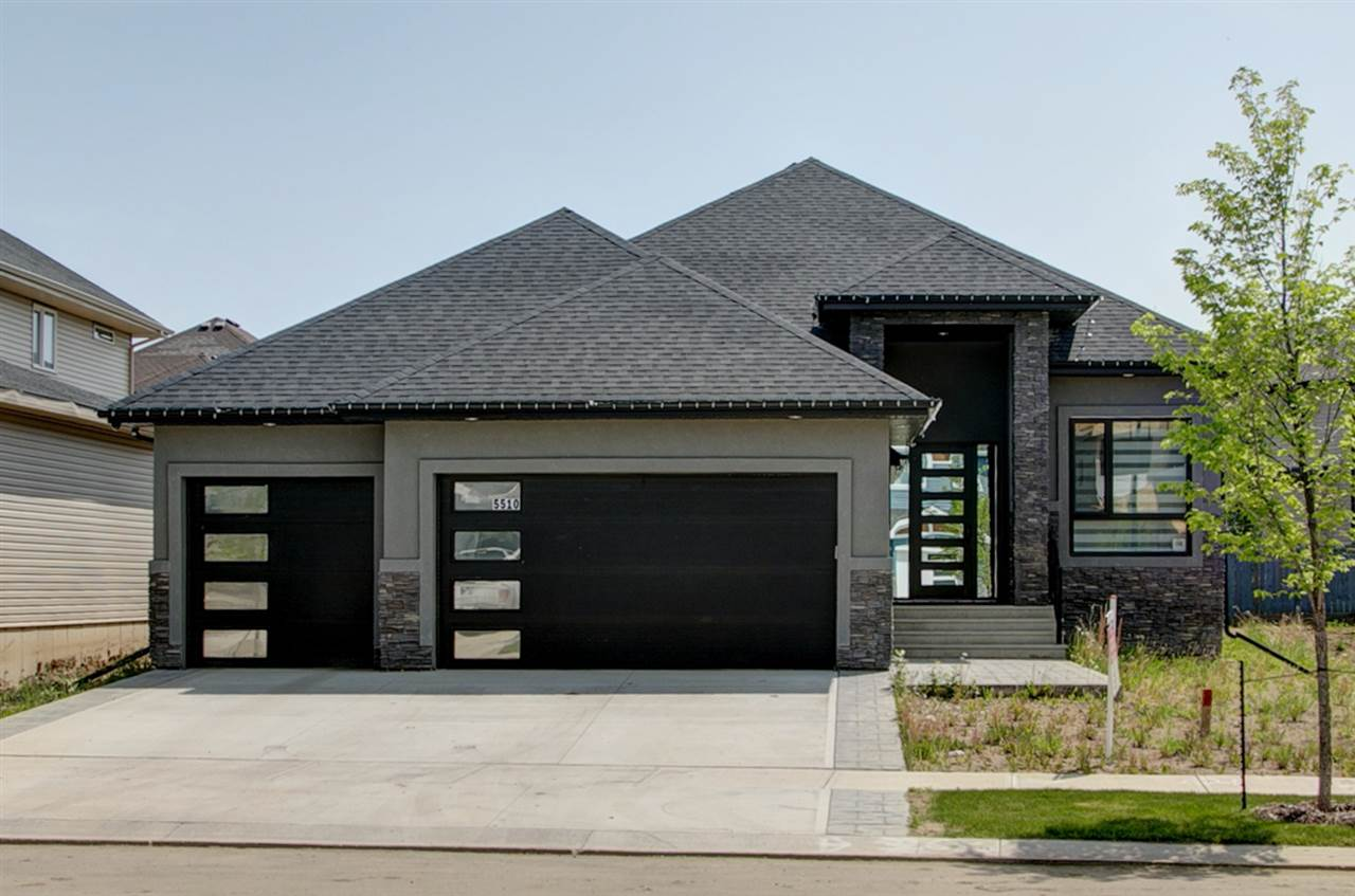 Welcome the Beautiful community of Place Chalereause in Beaumont.  This custom built Triple Garage Fully finished Bungalow with acrylic stucco has EVERYTHING you need. High Ceiling, Built in appliances, Glass Railing, Built in audio/video and Security system. Main floor features 9ft doors, high ceiling, walk through pantry, kitchen finished to the ceilings. LUXURY AND EXQUISITE FINISHINGS  Enjoy the fabulous open concept office/den with front view windows. The mud room combined with laundry room has plenty of room and a sink. Walkthrough  the pantry to the chef's dream come true kitchen with Custom Glass backsplash. Dropped ceiling over the island, the corner dining room, living room with fireplace tiled to the high ceiling. Master on the main floor with double vanity, soaker tub, custom tiled shower and huge walk in closet. Basement has 3 bedroom, massive U shaped bar, family room and full bath. Location is PRIME! Situated on the south of Beaumont, Close to everything, including new schools and parks.