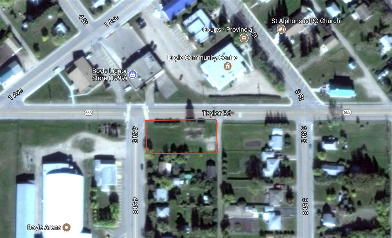 SERVICED LOT IN BOYLE, AB PERFECT FOR COMMERCIAL OR RESIDENTIAL! Right along highway 663 that goes through Boyle this lot is a generous 0.32 of an acre! With highway frontage it is perfect for a commercial building or home business opportunity! Enjoy the convenience, and cost savings of the municipal services already located on site! This lot has loads of potential at a very affordable price!