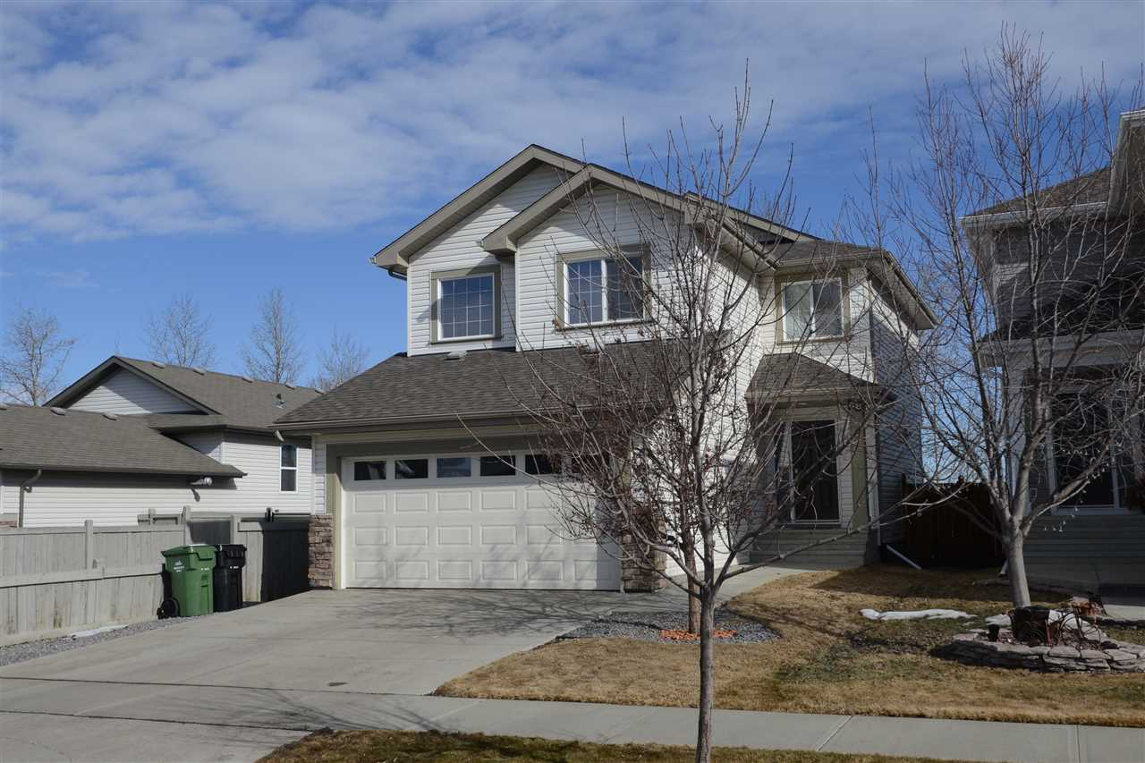 Welcome home to Suntree in Leduc.  This 3 bed, 2.5 bath home is absolutely loaded with upgrades and recent renovations. 1727 sq ft with granite counters, vinyl plank flooring (perfect for pets or kids), new light fixtures, baseboards and casings, electric fireplace with stone surround and custom built in cabinets.  Completely renovated master esuite with dual sinks and custom shower, custom window coverings, new garage door and opener, CENTRAL AC, new composite deck, fully skirted with a dog run!  BACKING TREES and siding onto a utility corridor so only one neighbour and less than a 5 minute walk to the new West Haven School! This home is an absolute must see.
