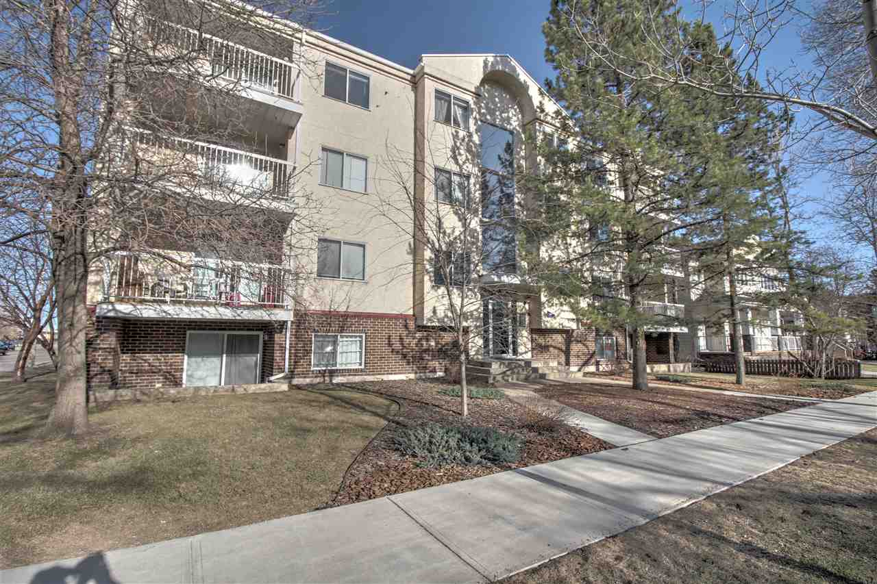 FABULOUS AREA!!! Homes & Gardens are delighted to offer for sale this updated 2 bed, 1 bath condo located in the sought after Westmount area. Well cared for/updated building. 15 minute walk to the brewery, ice district and Grant Mac. This unit offers a renovated 4 piece bath, generous master bedroom, a second bedroom, open plan kitchen with eat in bar looking onto a dining area, living room with wood burning fireplace and sliding doors to a private balcony. The unit also features in-suite laundry, newer counter tops, backsplash, lighting, flooring and paint. This fantastic unit can offer a superb quality of life at an affordable price. View now to avoid disappointment!!!