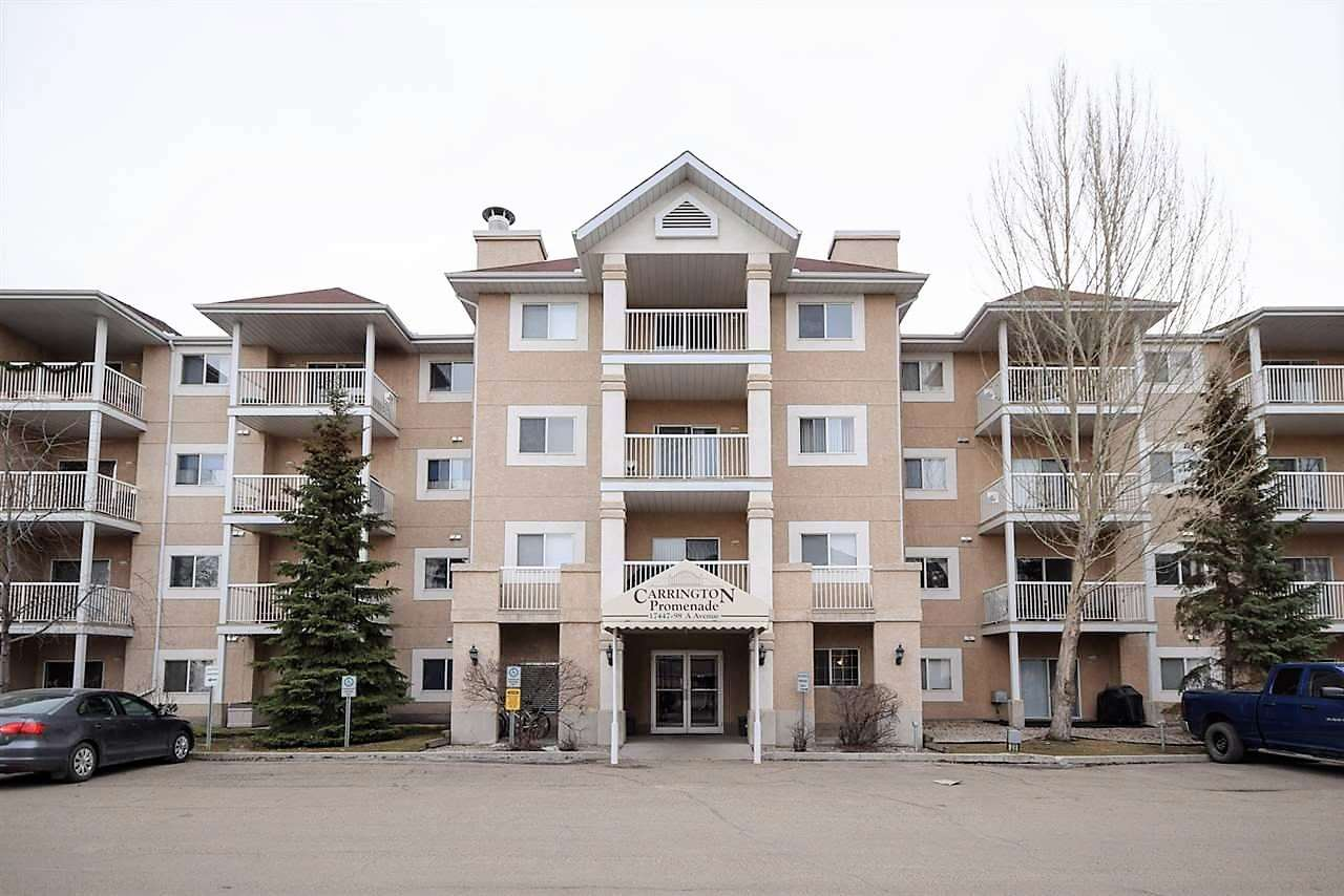 Why to carry on Grocery on upper levels rather than entering the unit thru Patio Door? Most comfortable and convenient main level condo. Lowest priced in the complex, Great location. Near a Church, Walking Trails, picnic park, West Edmonton Mall, shopping at 170 St, Seniors' Activity Center etc.  Beautiful entrance, guest welcome sitting room for small parties. Another Storage in Parkade as well. You would love living this beautiful complex. Measurements are RMS standards compliant.