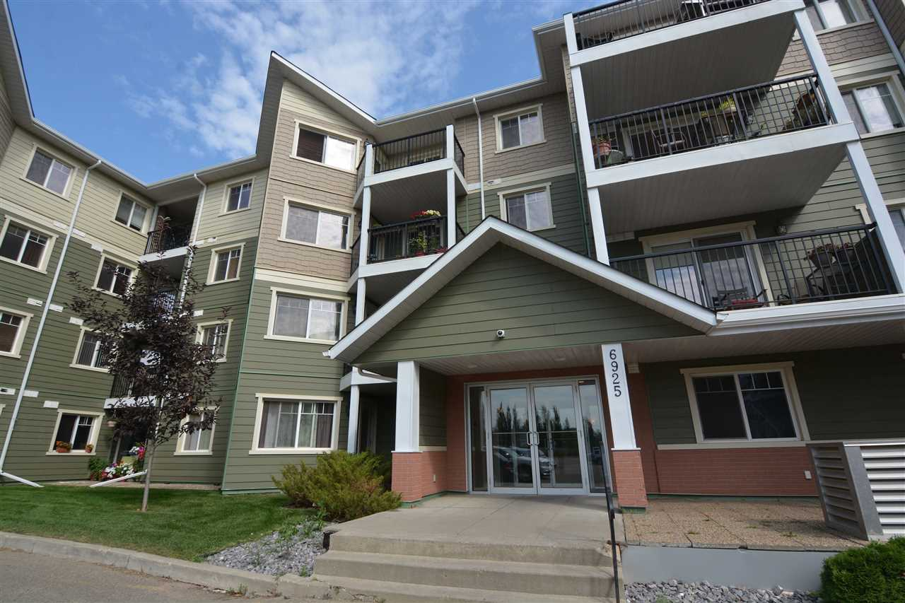 Come home to this wonderful 2 Bedroom - 2 Bath Apartment Style Condo on Edmonton's West End in a quiet building. Modern coloured laminated and ceramic tiles make this unit very easy to decorate to any taste. The floor plan is perfect for privacy from guest or room mates with the Living and Dining Space separating both bedrooms. The MASTER Suite is spacious with a large walkin closet & a 4 piece ensuite complete with plenty of storage. The 2nd bedroom is also a good size with a walkin closet & just across the hall from the main bathroom. The Kitchen is has gorgeous dark espresso coloured cabinets, Over the range microwave, stove, fridge, dishwasher and a breakfast bar. The unit has insuite laundry, a large east facing balcony and 1 assigned underground parking stall. It is on the third floor in a building with a security entrance and a elevator. It is easy access to the Anthony Henday and the Whitemud, close to shopping and major amenities.