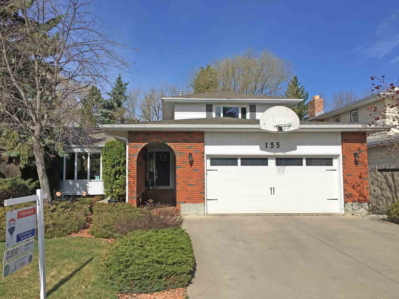 An amazing family home in the River Valley community of Lessard! 7 Reasons this is home: 1) YARD - the back yard is like a park, beautifully treed with stamped concrete patio and 3-season sun room. 2) CURB APPEAL - the front yard of this home has a private sitting area, perfect for sunny morning coffee, and is beautifully landscaped. 3) UPGRADES: newer windows, doors, garage door, and more. 4) UPDATES - hardwood and ceramic tile flooring; renovated main bath, ensuite, and powder room; renovated kitchen with tile back splash, granite counter tops, ceiling-height cabinetry, under-cabinet lighting, and tons of pantry space. 5) BUILT-IN STORAGE - back hall bench and drop zone, family room storage, and extra kitchen shelving/counter spaces! 6) SCHOOL - walk to Centennial Elementary (one of the top ranked schools in the city) and S. Bruce Smith Junior high! 7) RIVER VALLEY - enjoy walking along the river only blocks from home, complete with views of the Terwillegar Dog Park! Come see it for yourself!