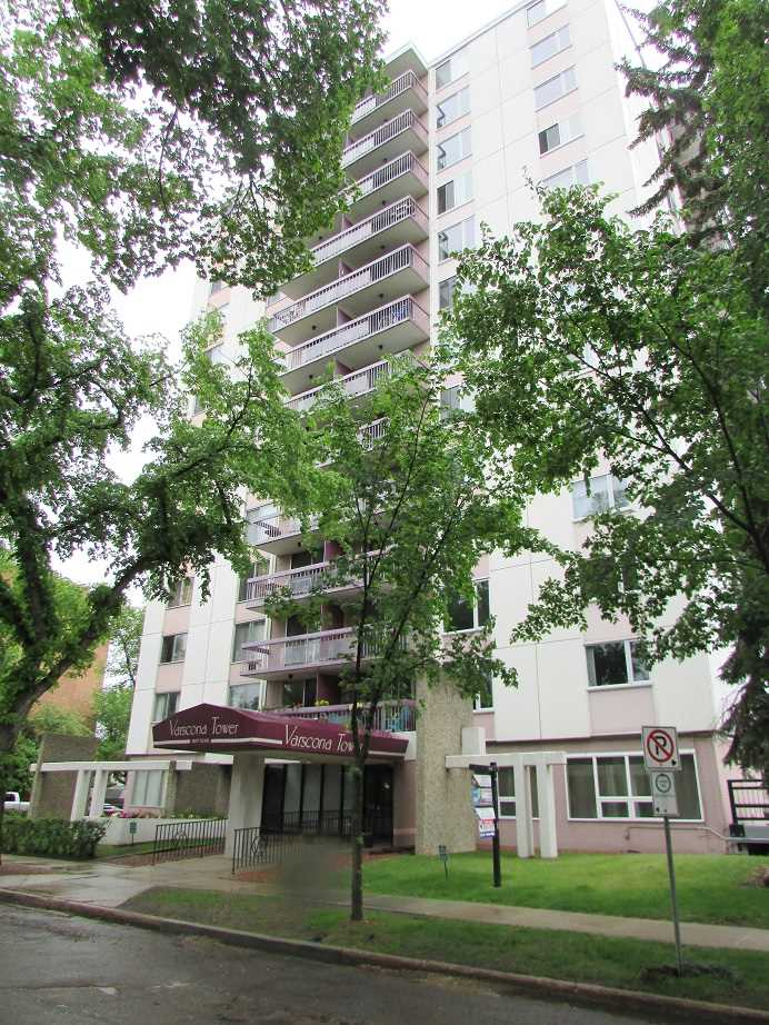 This fantastic and clean 710 square foot condo is located in the sought after neighborhood of Garneau and is within walking distance to the University and Whyte Avenue. A spacious entry with open floor plan features living/dining room area, galley kitchen upgraded in 2016, 1 large bedroom, plus remodelled bathroom within the last few years. Flooring is cork and linoleum and easy to keep clean. All appliances are new within the last few years, and portable air conditioning unit is included. Laundry is immediately outside the door of this unit! A great property for the first time buyer, or a solid rental investment opportunity. Outdoor parking stall included. Close to all of the amenities you could possibly need - public transportation, schools, shopping, swimming pool, ski hill etc. Start packing!