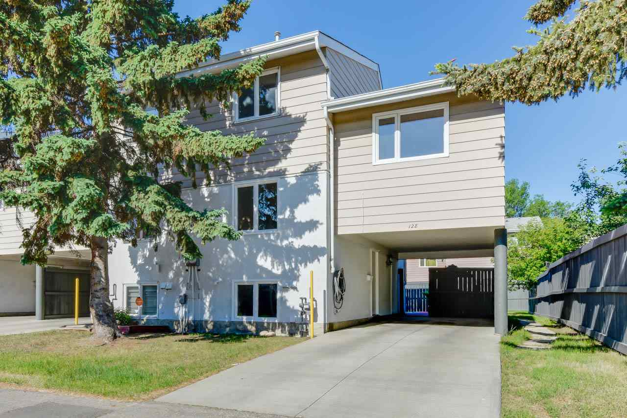 Are you tired of seeing the same old townhouse layouts? Looking for something different? You've found it. Tucked into a very convenient location in North Callingwood, this 4 level split has a unique style you don't find very often. A private tandem covered drive way welcomes you to walk in. From the entry, climb a short flight of stairs to the main floor. To the left a bright, well planned kitchen & nook. On the right a spacious living room. Up a level brings you to the master bedroom, complete with Ikea Cabinets. A really unique feature here are the French doors to the 2nd bedroom, dressing room, or office. You choose. Up another level a 3rd bedroom, 4 piece Reno'd bathroom, and a built in storage space give you everything you need. But wait! There is more. The basement has, a 4th bedroom, or living room depending on your needs. As well as laundry, & plumbing roughed in for a bathroom. With a private no maintenance backyard, low condo fees (250) and super convenient location, it's Time to Move Right In!!