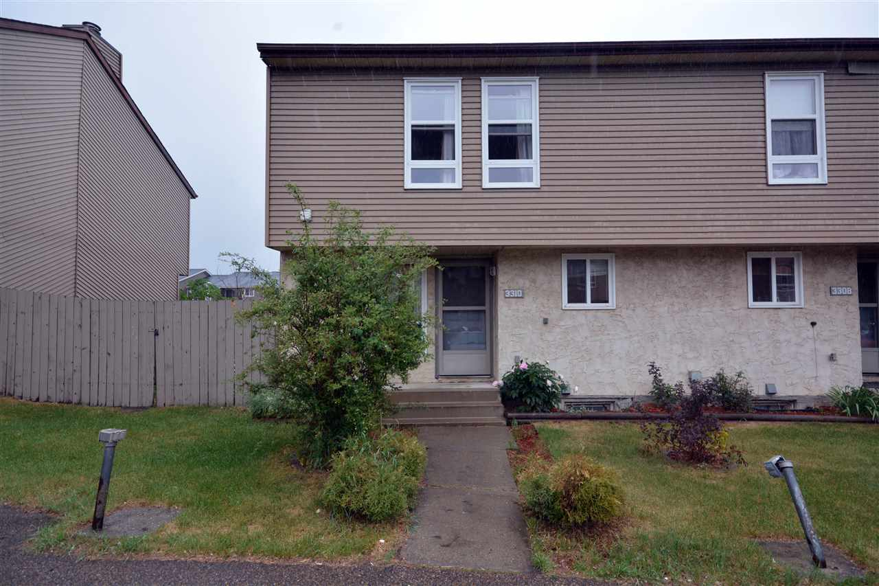 Fantastic end unit four bedroom townhome - this one is a must-see! The large backyard is perfect for entertaining, with a deck, firepit and mature trees giving you added privacy. Inside you will enjoy the spacious sunken living room, which features hardwood floors and an amazing stone fireplace. The master bedroom easily fits a king-size bed and has a huge walk-in closet which connects to the washroom via a pocket door. The other three bedrooms are generous in size. Freshly painted, and the upstairs carpets and hot water tank are approximately only one year old. The basement is unfinished, providing ample storage as well as room for activities and your imagination. Walking distance to Rundle Park and only minutes from Hermitage Offleash Park. Proximity to the Henday and Yellowhead make commuting a breeze. Don't miss out!