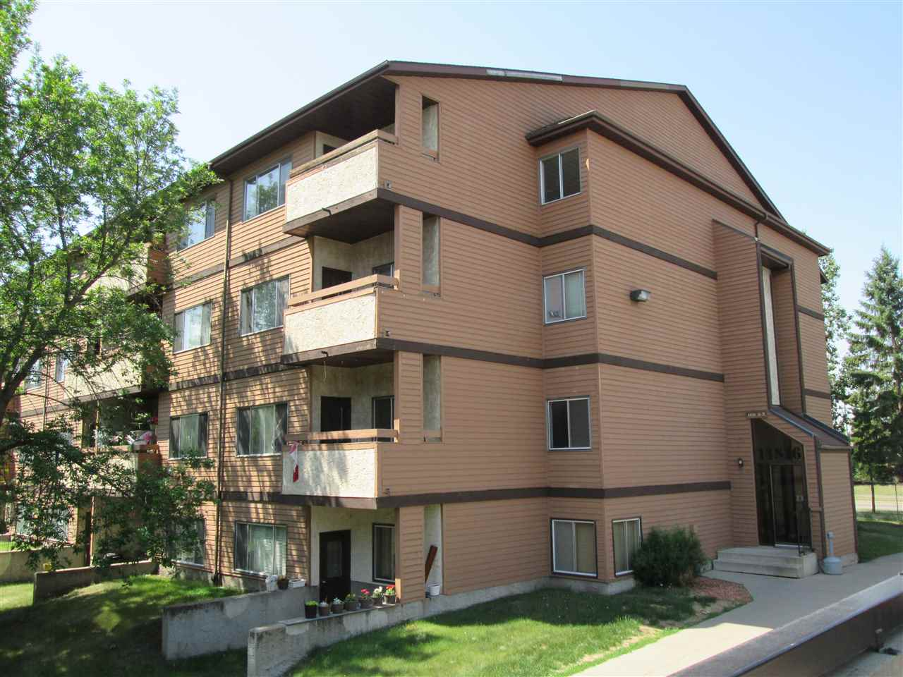 Neat and clean 2 bedroom condo with balcony.  Great layout with a cute and well laid out kitchen,  plenty of cupboard and counters.  Open concept living and dining room with lots of sun light.   A really good sized storage room for all those extras.  Condo fees include heat, water and covered parking. Great location close to public transportation and shopping and only minutes to the Anthony Henday.