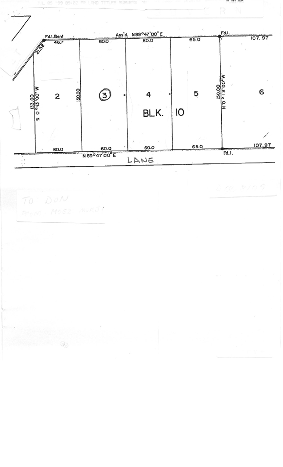 9,000  sq. ft. vacant lot.  60 x 150 ft.   Services to the lot.  Backs on to open field and it has a lane.  Great town to build a home, or investment property.  Spend time in Smoky Lake and you will appreciate the people and town.