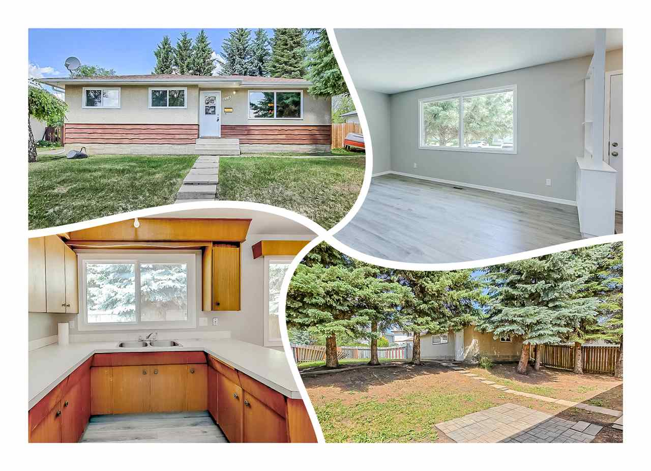 UPGRADED MCLEOD BUNGALOW located on a quiet street. Large lot with a DOUBLE GARAGE & fenced yard. NEWER SHINGLES & WINDOWS throughout. NEW MODERN MOTIF INSIDE with lighter grey paint, wide plank silver birch look laminate, baseboards, linoleum, carpet, & MORE! THREE BEDROOMS UP including a SPACIOUS MASTER BEDROOM with TWO PIECE ENSUITE. The FOUR PIECE main bath has been refurbished with tub fitter renovation, new linoleum, toilet, & paint. Cook in the HUGE U-SHAPED kitchen with spacious dining room overlooking the shaded yard. BRIGHT & WELCOMING LIVING ROOM with new picture window. DOWNSTAIRS a FINISHED BASEMENT IS YOURS TO ENJOY with ONE BEDROOM, THREE PIECE BATH, REC ROOM, & LAUNDRY AREA. Carpets, paint, linoleum, toilet & sink are ALL NEW. Nothing better for this price! MOVE IN READY! SEE IT, YOU?LL LOVE THIS PLACE!