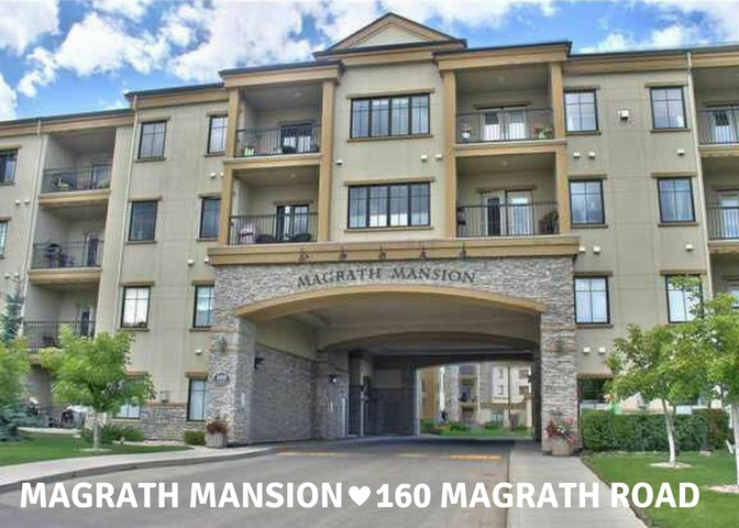 Welcome to Magrath Mansion! You know what they say - you can't change the location, and with this unit you won't want to!!  Absolutely the perfect location with the best of both worlds - on side are all the local shops, restaurants and amenities you could want, and on the other side are the stunningly beautiful MacTaggart and Larch Park Sanctuaries - all within a 5 minute walk!  This building also has world class amenities including a car wash, steam room, gym, theatre room, whirlpool, outdoor patios and more.  With this spacious 1 bedroom+den unit you will enjoy all of the above, plus a west facing patio, central air-conditioning, underground parking and best of all concrete and steel construction for extra peace and quiet.  Welcome to the ultimate in condo life!