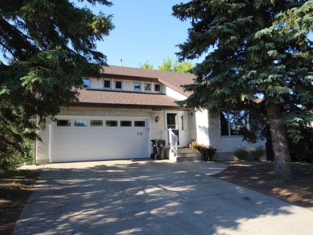 This absolutely beautiful 1836 sq. ft, 2 storey home features tons of upgrades. Triple glazed Rayomax windows, air conditioner, new paint through out main floor & upstairs. New shingles, gutters, down spouts & fascia. Newer hot water tank & high efficiency furnace. Energy Efficient Alberta installed new energy efficient lights inside & out also new water efficient taps, shower heads & a smart thermostat. Spacious entrance with convenient closet & lino. The huge front living room boasts a large window connecting to the dinning room. An abundance of oak cabinets & counter space is featured in the nice sized kitchen. Adjacent dinette has a large window with view of the backyard. Main floor family room features gas fireplace & garden door to deck. The upper level features 3 good sized bedrooms including a large master boasting a walk-in closet & 4 piece ensuite plus another 5-piece bathroom.