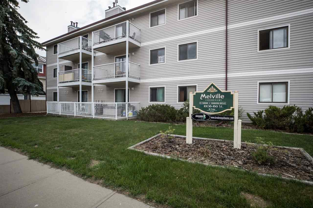 First Time Buyers and Investors Welcome!! This Spacious 784 Square ft. Top Floor End Unit Condo in Melville Manor Features 2 Large Bedrooms, Laminate Flooring Throughout, Spacious Living Room/Dining Room Area and a Brick Faced Wood Burning Fireplace. This Top Floor End Unit also comes Complete with it?s own Furnace and Hot Water Tank, a Large Full Bathroom with access directly from the Master Bedroom, and 1 Assigned Parking Stall. Start your day off with a Coffee and Plenty of Morning Sunshine on your Large East Facing Balcony, or Enjoy Relaxing in the Evening after a long day with a Glass of Wine. Plenty of Space in the Living Room to sit and enjoy time with Family and Friends or to stay Cozy and Warm by the Fire. Situated in a Great Location near Schools, Public Transportation, Shopping, and many other Amenities. Ideal for the First Time Buyer or Investor. Definite must see!