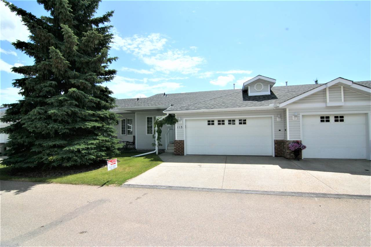 Great Price! This 45+ adult bungalow condo features a large double garage, new paint, newer laminate floors in great room that has vaulted ceilings, corner gas FP and patio doors to a huge stone patio and large grass area. The unit is well located in the complex and backs onto green space. The kitchen has vaulted ceilings and is open to the LR & DR combined and open eating bar. The kitchen features new counter top and back splash, newer appliances and large pantry cupboard. The front entrance has mirror closet doors with french doors to the den and large window looking over the front yard The MBR has large windows looking over the back yard and has a walk through closet to a private 3 pc. bath and stand up shower BR#2 is carpeted has a large window with back yard view and a four pc bath across the hall. The basement is 50% complete featuring a hobby/sewing room, rec room, 2 pc bath, and cold room, lots of shelving. Newer furnace c/w air conditioning and HW tank in 2015. Newer roof & non smoking