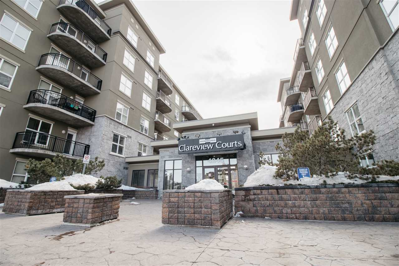 This is Must see Concrete Condo unit in Clareview Courts. Great Location! Walking distance to shopping centers, restaurants, and LRT Station for easy commute to Downtown! Concrete Construction building which features 9ft ceilings in this very well kept unit with 1 bedroom and 4 piece ensuite bathroom, laminate flooring, insuite laundry and underground parking. Perfect unit for new home buyer, Young professional or Investment rental. Condo free's include Electricity, water and heat. This well kept unit will not last! Move in ready or Turn key rental unit!