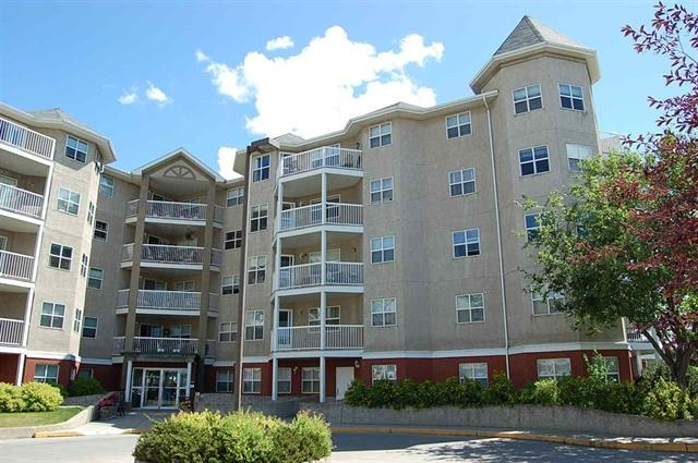 Welcome home to this bright, west facing 1118sqft condo on the top floor of an adult living complex. This roomy unit is west facing with plenty of natural light. The oversized kitchen has an island, lots of cupboards/counter space and a dining area. From the large living room, with its gas fireplace, you can step through the sliding doors onto your balcony with stunning views of downtown Edmonton. The spacious master bedroom has a 3 piece ensuite. The 2nd bedroom, with vaulted ceiling and outstanding views, could easily be used as a craft room or home office. The condo also has a 4 piece bath and insuite laundry/storage room. The heated, underground parkade features a storage locker and a tandem stall which will accommodate 2 vehicles. Building amenities include a guest suite for visitors and a social room with a fireplace and kitchen. Condo fees include heat, water, sewer and cable. The home is conveniently located across from Bonnie Doon Mall, near transit, library and swimming pool.