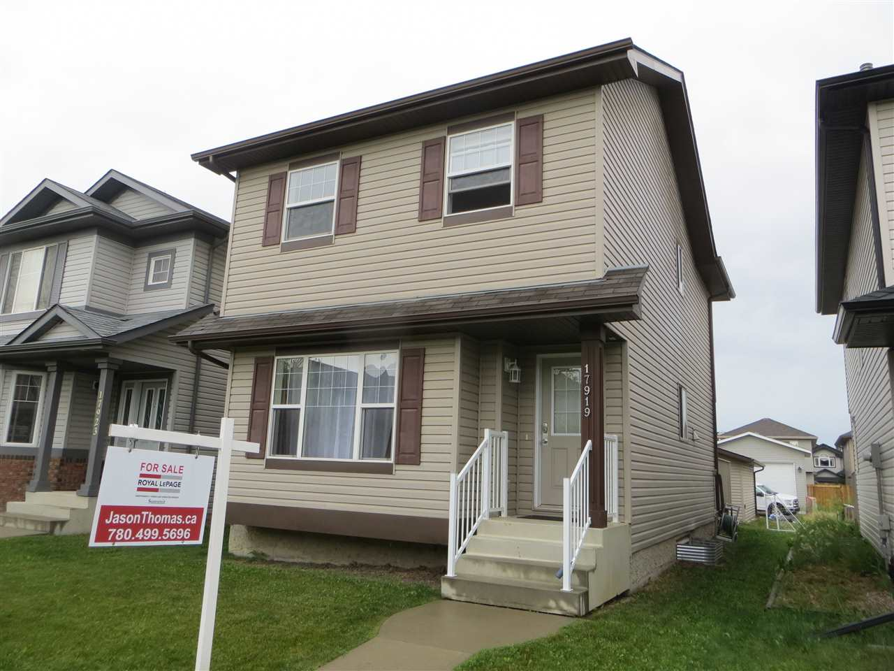 Unbeatable value for this 3 bedroom home with a double garage!  This Park Royal built home is over 1300 sq ft, and hardwood floors welcome you into the bright living room.  The island kitchen is nicely equipped with black appliances, subway tile backsplash, eating bar on the island and abundant cabinet space.  Upstairs, there are 3 bedrooms and the master has room for a king sized bed, enjoy the 3 piece shower ensuite and the large walk in closet.  Yard has been landscaped with a deck and newer double garage.  The basement is undeveloped and ready for your own ideas.  Located on a quiet street in popular Klarvatten.