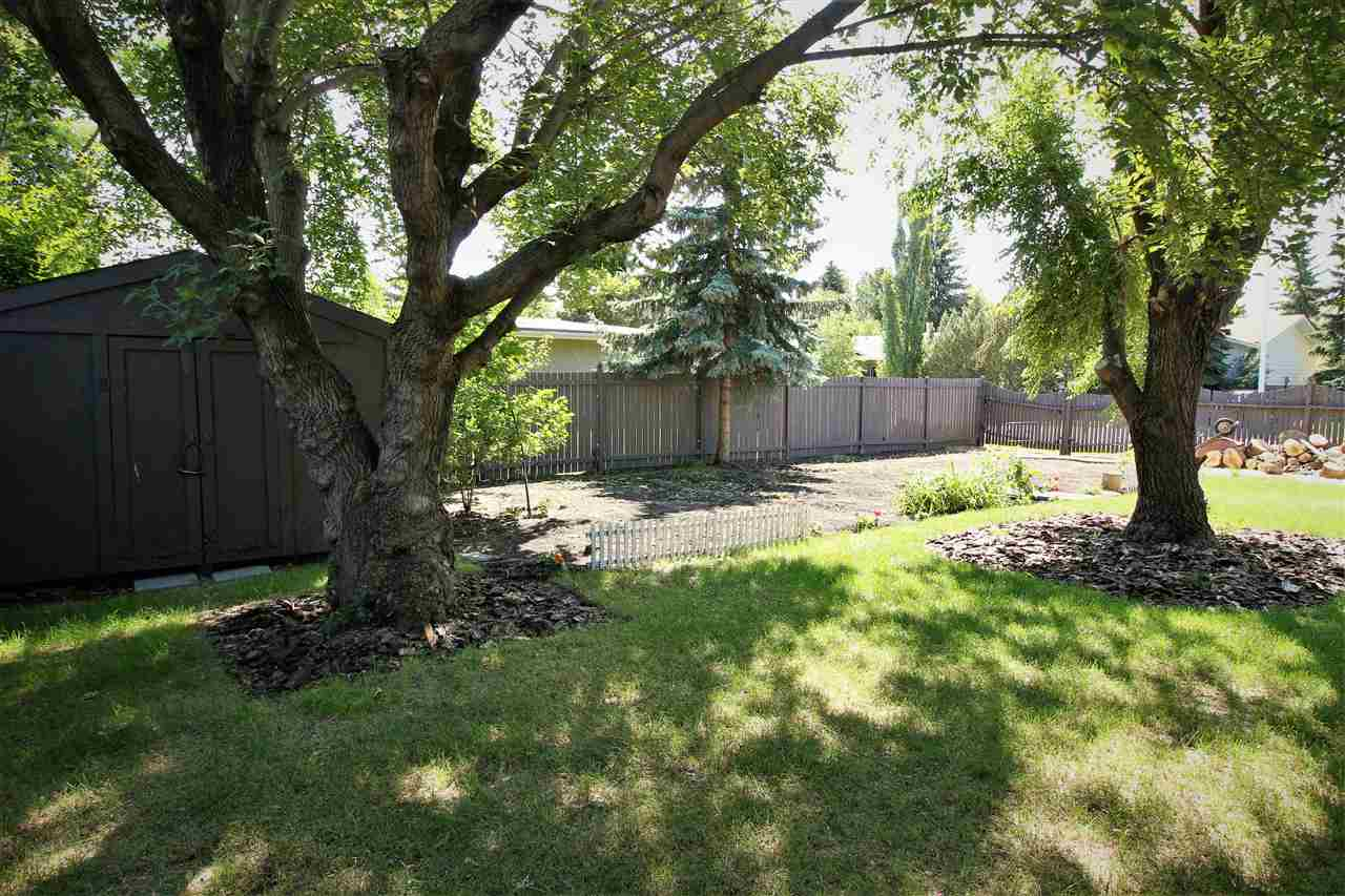 Nestled in the gorgeous neighborhood of Aldergrove yet just minutes from the Anthony Henday, Whitemud, West Edmonton Mall, and so much more! This unique 4 level split is situated on a large private corner lot that provides privacy, sunshine, and shade in all in the right places! As you enter this home you will feel all the benefits and functionality of all the rooms! The main floor features a huge family room that leads to a spacious dining area that is set for entertaining! The kitchen has fresh appliances and provides lovely views of your backyard. The upstairs features three bedrooms and a jack and jill bathroom that is perfect for the growing family. Your master bedroom features a walk-in closet and attractive double swinging doors! The lower level is has tons of natural light and is a perfect space for the family to enjoy. A fourth bedroom, laundry room, a two piece bathroom, and a back door boot area complete this level. The basement is open for your imagination! So much to list!