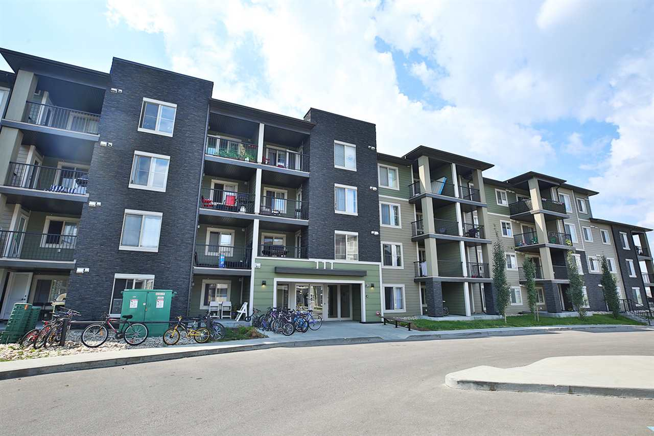 This 2 bedroom well maintained condo is perfectly situated in Walker Lakes, SE Edmonton. Located on the third floor, the balcony is facing a green belt with spacious views of a quiet neighbourhood. This unit has barely been lived in! Tile and carpet thru out. The kitchen features brand new appliances (including a never used dish washer) that have barely been used, a spacious eating bar, and ample cabinet space. Unit comes with one over sized under ground parking stall and in suite laundry. Building is close to public transportation, Ellerslie Road, Anthony Henday, grocery stores, restaurants and convenience stores. Do not miss out on this home! Perfect for a first time home buyer, couple, young professional or investor.