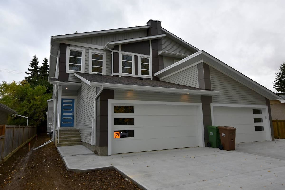 Quality built by Henderson Homes, brand new in mature Grandin, 1651 sq.ft 3 bedroom 2 storey duplex. Open and spacious main floor with 9' ceilings, feels more like a house then a duplex. Linear fireplace, quartz counter top on top of tons of sleek modern cabinetry with 6 appliances, big nook area that leads to a rear deck with gas line for a bbq. Huge walk thru pantry. Wood and glass railings to upper level. King size master suite with an elegant 5 piece ensuite and walk in closet. 2 more spacious bedrooms, upper level laundry and a 4piece bathroom.  Additional features include, clean vinyl floor on main, second floor has carpet with an upgraded 8 oz. pad and tile flooring. Double car garage that is deep enough for trucks or long vehicles.  Walking distance to schools, shopping, outdoor public pool and bus station.  Show and sell with confidence.