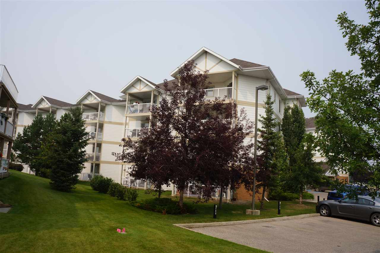 Great TOP floor corner unit with both River Valley and City Views from Balcony. This large 1100 square Foot + unit features TWO Bedrooms and TWO full Bathrooms. Open design Kitchen over looks formal dining room and Living room with patio doors to Balcony. This apartment condo has been freshly painted and ready for Immediate possession in Riverview Estates. Complex is located on the banks of the North Saskatchewan river valley offering Miles of paved walking trails and located close to all downtown amenities form Banking - Shopping- Schools- Banks- Parks and Recreation- Restaurants and so much more. Exercise room in complex with secure access to residences. 1 Parking stall  (402B) located close to front door and elevator in building.