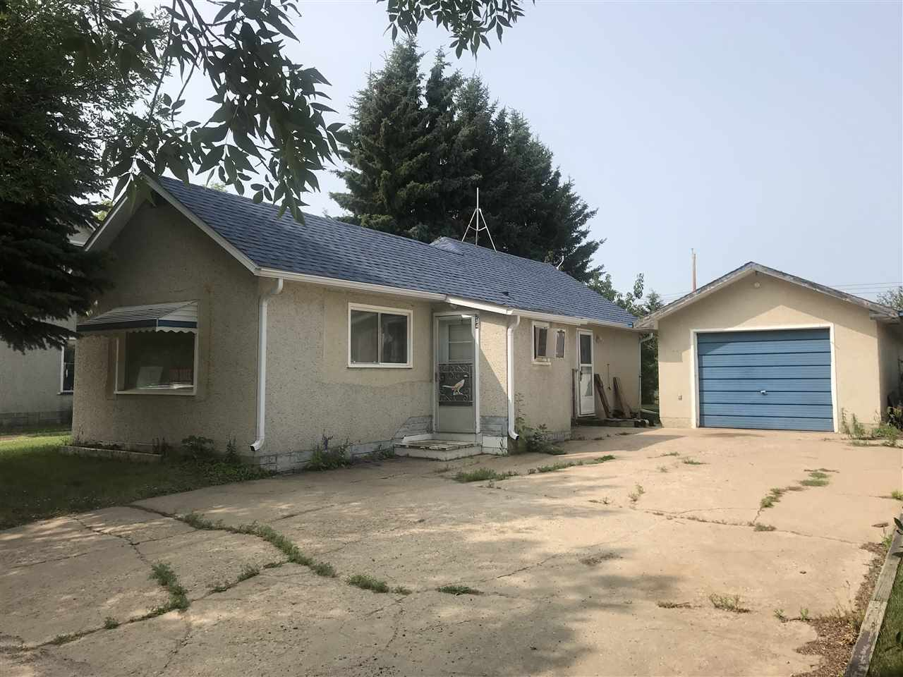 Tidy 2 bedroom, 1 bath home with single car garage looking for new owners!   Located in Thorhild - a short 45 minute drive from Fort Saskatchewan/Edmonton - this home is the perfect affordable property.  The main floor features a large living room, an open kitchen with a good amount of cupboard/counter top space, two nicely sized bedrooms and a 4 piece bath.  The partial basement houses the laundry, cold room and tonnes of storage space.   Recent upgrades to the home include shingles, soffit and fascia on the house and a HE furnace.  The 14x24 single car garage with cement floor is just off the side door, providing easy to accessibility to and from the house and garage.  And if you want to just park in the front drive, you'll enjoy the cement driveway too!   To complete this tidy property is the mature yard that features a garden spot, a producing plum tree, a variety of perennials and a garden shed for all your garden tools.
