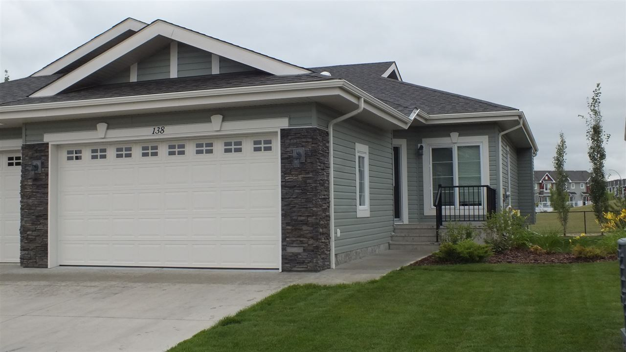 A rare opportunity to own one of Leduc's most exclusive adult living bungalows awaits!! This beautiful 2 bedroom, plus den, 3 bath duplex in wonderful Windrose features an open concept living space with main floor laundry, a spacious master with 4 piece ensuite and walk in closet. Hardwood flooring flows through the living and dining rooms, leading to an adorable back porch. The fully developed basement includes a large family room, a spacious bedroom, full bathroom and tons of storage. Plus there is the rough in for a wet bar!! Close to shopping, golf, the international airport, and the brand new Costco! Are you ready to start the next phase of your life in Avalon Villas?