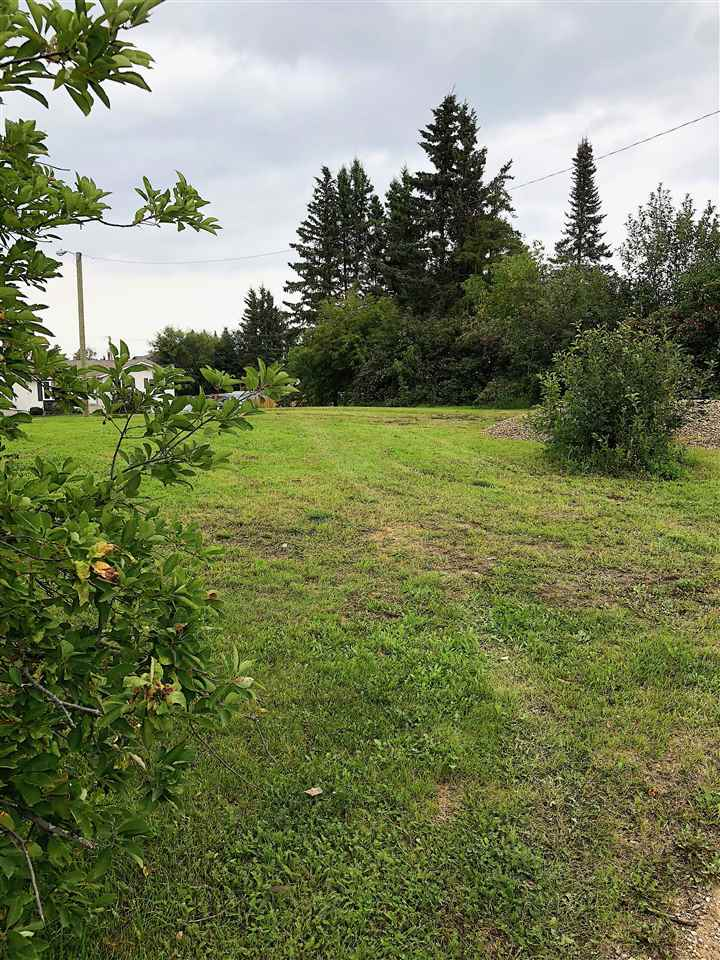 View of the Lake!  Inner city with back alley access. Beautiful mature treed lot with bountiful fruit bearing trees. Excellent opportunity to have a lush yard ready for you to build a home.  note : 807-11 Ave also for sale (Lot 8).  Lots can be sold separate or together.