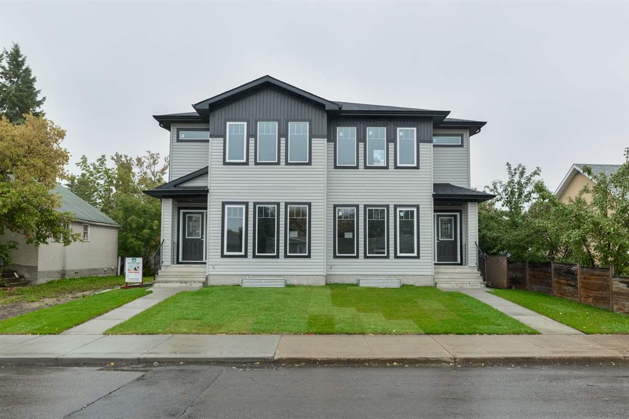 ** PRICE REDUCED $15,000*** Brand new custom built half duplex in High Park. This 1489.74 SqFt family home features a open concept kitchen and living room with Vinyl plank floors, upgraded cabinets with a glossy finish and quarts kitchen island. The main floor is rounded out with a bright dining room, 2 piece powder room and main floor laundry. After going upstairs you will be greeted by the master bedroom with an exceptional 4 piece en-suite, 2 more spacious bedrooms and a full bathroom. Unfinished basement is ready for development and has a separate entrance and a second kitchen roughed in for a In-law suite. Easy access to amenities and whitemud/yellowhead.
