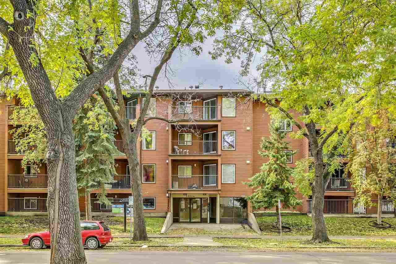 Amazing opportunity to own a 1 bdr/1 bath WITH a titled parking stall.  Steps away from the LRT, and a 5 min drive to downtown this is a perfect location for any investor or first time home buyer. Building has an elevator, and laminate floors have been recently installed.