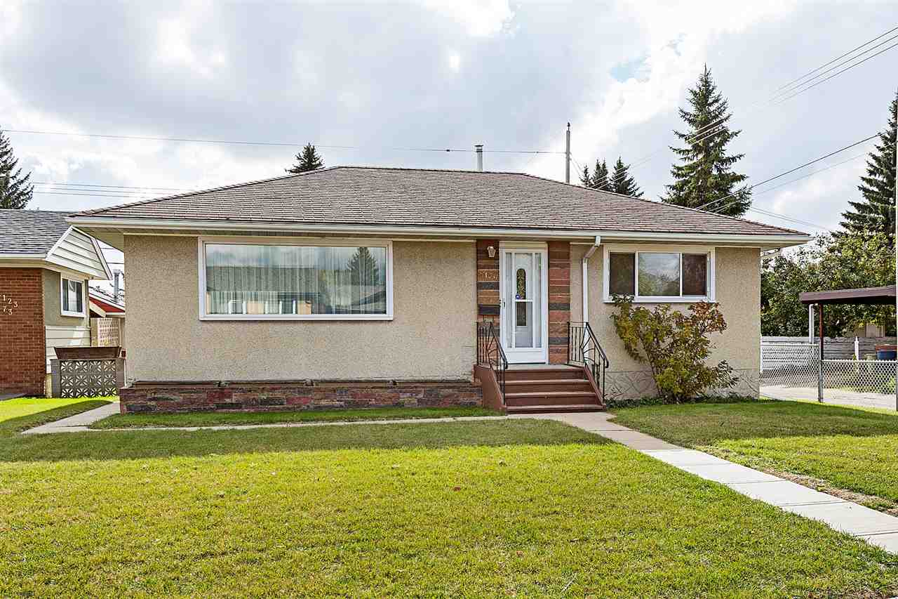 Don't look any further if you are a first time home buyer or investor wanting to be in a central location. This immaculately maintained bungalow is situated on a quiet street in the mature neighbourhood of Avonmore - mere steps to schools, parks & public transportation which will include the soon-to-be constructed Valley Line LRT system. Zoned RF1, this lot is ideal for a garden suite development where the current oversized, heated double detached garage is located. The main floor features a spacious living room, a functional kitchen & large dining area as well as two bedrooms & a full bathroom. The Fully Finished Basement has a huge family room boasting a fantastic retro wet bar. There is also another bedroom, full bathroom & laundry/storage. Other features/upgrades include: Newer High-Efficient furnace; Steel I beam; some newer vinyl windows; New exterior doors; New shingles on garage (2017). Move in ready if you enjoy a well-built, well-kept home in a well-regarded neighbourhood.
