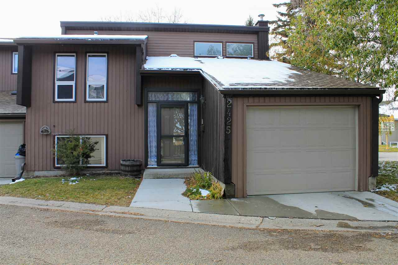 Perfect first home for a family or investor! Located in the nice neighbourhood of Bannerman, just steps away from a K-6 elementary school, park and public transit. Along with Clareview Village Shopping Center just a short walk away! This lovely bi-level features over 1300 sqft of livable space, 3 bdrm, 1.5 baths, air conditioning, windows and furnace replaced within the last 5 years and maintenance free backyard. The upper floor features large west facing living room, wood fireplace, large windows and vaulted ceilings up to 12ft, perfect for letting the afternoon light in. Kitchen and breakfast nook is spacious with patio doors leading to the great sized deck, brown wood cabinets throughout and a good sized formal dinning room leading off the kitchen. Basement homes 3 great sized bedrooms, with huge windows allowing for lots of light into the rooms, a 4 piece bath and in-suite laundry! Great home just awaiting its great new homeowners!