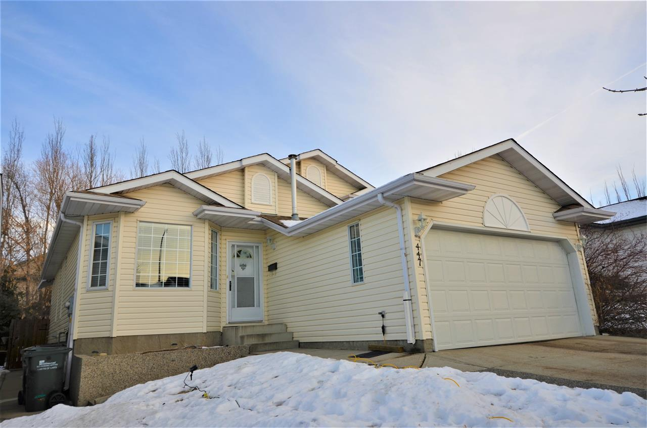 Closest location to brand new state-of-the-art school in Sherwood Park without being on traffic route! Impressive, beautifully maintained and ready to move in! Complete with 3 full bathrooms, 4 bedrooms, family room with rock wall surrounding fireplace and heated and insulated garage. AMAZINGLY private landscaped backyard with highly valued covered composite deck and large hot tub. Located on a quiet no-thru road, backing onto desirable trail system with a forest of developed trees. Close to parks, rinks, courts - you name it! Other detailed features include upgraded granite in kitchen along with new shingles and paint. Vaulted ceilings, hardwood floors and fully finished open concept basement with giant accessible crawl space for ample storage make this home the total package. A must see!