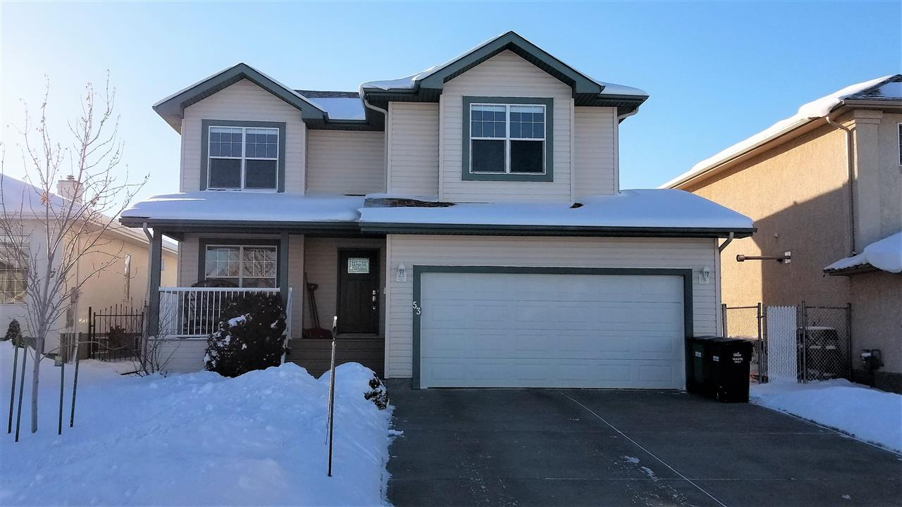 You?ll love the location of this 2,106sq ft 3 bdrm + den 2 storey in a quiet & established part of Bridgeport, close to playground & walking trails. Main floor den off entry with French doors & large window that looks out onto the front veranda. Impressive great room with vaulted ceiling & picture window allow for lots of natural light. Enjoy the gas fireplace on those cooler evenings. The family sized kitchen offers lots of cupboard space & center island with breakfast bar. Large dining area is perfect for hosting family & friends! Mudroom with main floor laundry area is an added bonus! Upstairs you'll find the spacious master suite with amazing natural light, walk-in closet & 4pc ensuite. Bedrooms 2 & 3 are both of substantial size with large windows & double closets. Main 4pc bath & great storage closets complete the upper level. The big backyard is wonderfully landscaped with edging all around & you'll love the no-maintenance deck! Double attached garage is heated with hot/cold taps & floor drain.