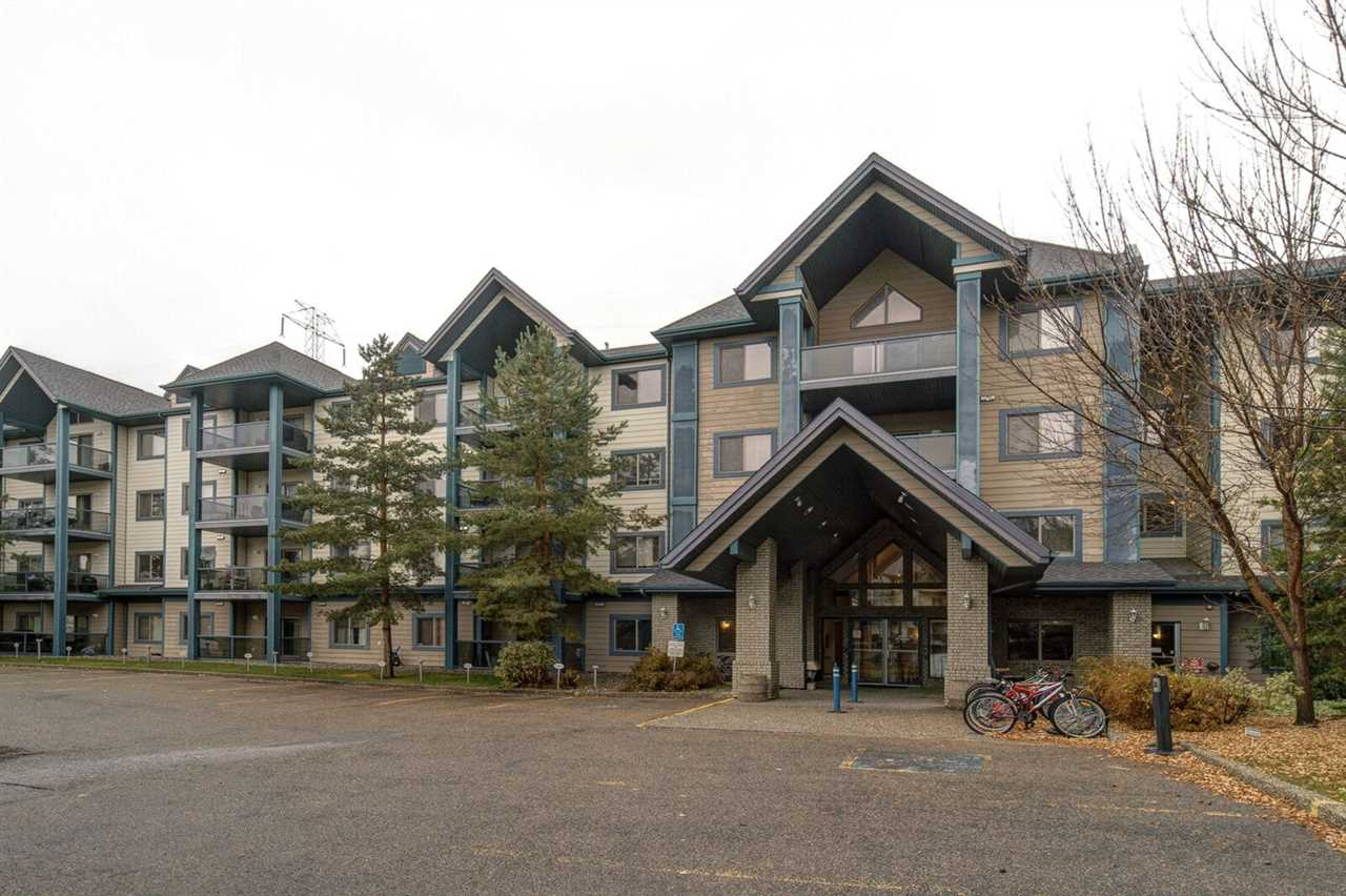 Well maintained 2 bedrooms, 2 full bathrooms condo in established, family friendly Whitemud Hills community.  Condo features galley style kitchen with open concept dining and living room.   Sunny south facing living room with corner gas fire place.  Covered balcony off the living room.  Fresh paint and new neutral color plush carpet through the unit.   There is convenient insuite Laundry and storage room.  Park your car in the heated underground parkade along with additional storage cage.  Other building amenities include exercise room, Library, guest suite and social room which can be rented out for private functions.  Park and green space behind the complex. along with walking trails leading to Whitemud Ravine.  Public transportation is outside your door.  Quick access to Anthony henday, Whitemud drive.  Grocery, retail, medical services, schools and Terwillegar Rec centre all within 5-15 minutes walk.  Great place to call home!