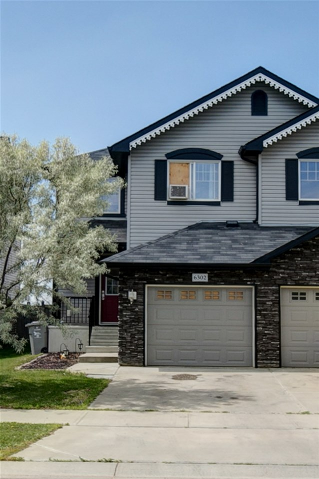 Well located, 2 storey half Duplex, close to shopping, schools, parks, and transportation, in the beautiful community of Montalet. Fully landscaped, fenced, and deck with patio. Upgraded granite counter tops, complimented to the dark hardwood, floors, and kitchen cabinets. Good size island and lots of cupboard space complete the kitchen. This unique two master bedrooms setup stairs. Large size rooms, both with walk in closets, and one with esuite, and one more full bath. Finished basement with all permits in place, just need to finish the bathroom.