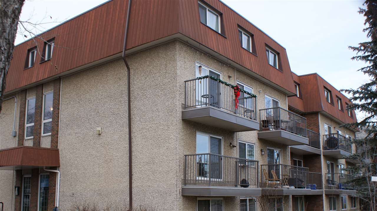 PAY LESS THAN RENT! Extensively RENOVATED 2 bdrm, 2 storey condo close to the heart of the city. Fully redone with new laminate flooring, carpet, & linoleum, kitchen & back splash, & baths.   Main level has large living room with lots of sun shine through 2 extra large window that opens to the dining area.  Gallery kitchen totally refinished with new espresso color cabinets, white and shine back splash and new counter tops.  Storage room and 2 pc bath on the same level. Lower level is offering 2 bedrooms and a spacious full bathroom. Very comfortable & affordable  living.  Recent upgrades in the building: balconies, windows, doors, newer sets of washer and dryer. Close to all amenities: Bus stop, U of A and shopping centers, parks, schools.Shows great.