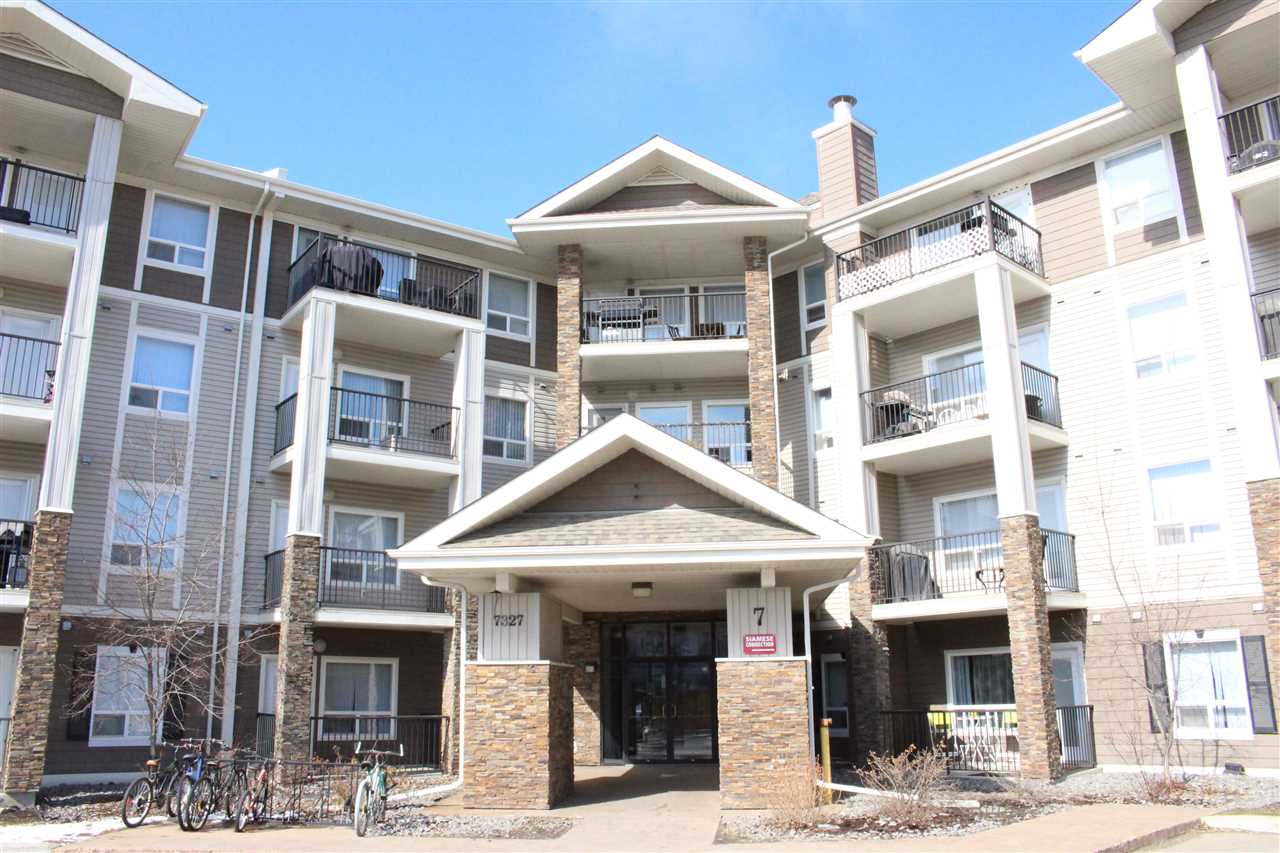 Fantastic, like new, Top Floor, 1 Bedroom, 1 Bathroom condo in Park Place South Terwillegar. This condo has a smart open concept layout with lots of storage and in suite laundry. This 645 square foot unit can be made available immediately has some terrific features like, stainless steel appliances, corner unit with large balcony facing 2 directions north and west, heated underground secured parking, low condo fees that includes heat, and its being sold by the original owner who took tremendous care of the suite (no pets, no smoking). The bedroom is spacious with ample closet space.  The laundry and storage room could easily fit a freezer and or sports equipment.  The laundry machines are stacked.  4th Floor modern luxury is steps away from shops, restaurants, public transportation, schools, dog walk, rabbit hill road, and the Anthony Henday ring road.  The furniture can also be included.