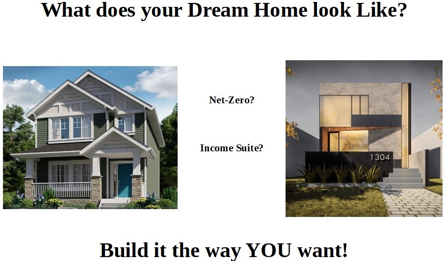 Would you like to build a net zero, income producing, 1800 sqft home all for just $660,000?  Give me a call and I will show you how you can eliminate energy bills, have a legal basement suite and a beautiful 3 bedroom home for a great price.  Serviced, cleared infill (single family or duplex) site with 22-26ft (actual build width), east-west oriented building pocket capable of supporting up to a 1200 sqft floorplate. Fenced on the south side, the only other feature of the site is a majestic Linden that has been preserved in what will be your large future back yard. The site is 750 m from the future Holyrood LRT stop currently under construction. Highly rated Holyrood Elementary school is just a 3 minute walk up the road. Start planning your dream home today!