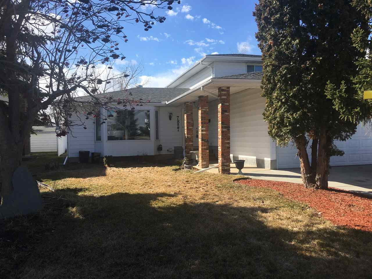 This two storey offers lots of space.  As you walk in you have a large front entrance and large living room.  The kitchen has tons of cabinets upgraded appliances and large pantry.  Just off the kitchen is a dining space, that can seat up to 8 people.  Just off the kitchen you have a family room with wood burning fireplace.  The main floor also offers a good size den or office.  Upstairs offers two bedrooms plus a master bedroom with his and her closets and 2pc bathroom and a main 4pc bathroom.  The basement offers two more bedrooms, 3pc bathroom, tons of storage and laundry room.  This property offers a large backyard with deck.  Upgrades include newer hot water tank, newer furnace and newer windows.