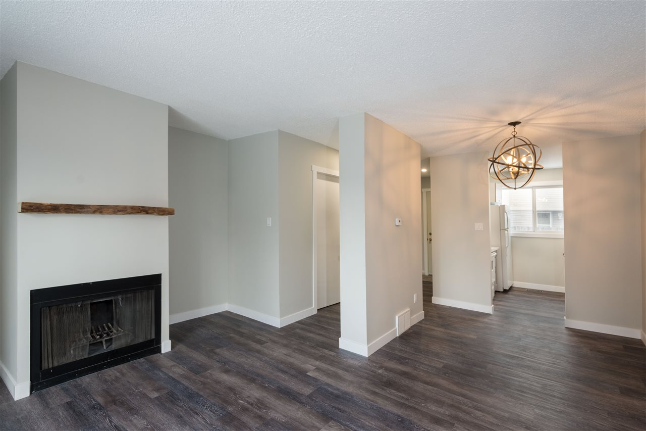 """WOW!!Take advantage of this amazing opportunity in Riverbend! Live in a prestigious area close to parks, schools, walking trails, and quick access to the whitemud freeway.This 2 bedroom townhome features a brand new kitchen, complete with deluxe granite counter tops, soft touch cabinets, and a gorgeous tile back splash. Brand new laminate flooring throughout, and all new 4"""" baseboards and moldings. All new light fixtures and switches. Bathroom features luxurious dual sinks and tile tub surround. New stair railings, as well as new carpet in both bedrooms. Exceptional location backing onto green space, and right across the street from a park and playground. Close to all levels of schools, shopping, and easy access to major roadways. All this plus the best price in the area!"""