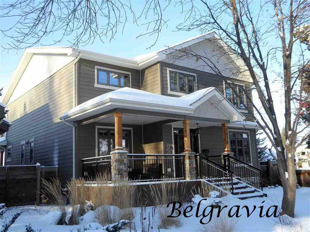 Welcome to this beautifully appointed custom built 2-storey home located in the much sought after community of Belgravia, just steps to the U of A, hospitals and the LRT.This immaculate 2721 square foot home has a one-of-a-kind floor plan including soaring 18 foot living room ceilings, an incredible island kitchen with granite countertops and high endstainless steel appliances including a coffee bar and indoor bar-b-que, a main floor office with built-in cabinetry and a formal dining room with access to the sunny west facing yard anddeck. The upper level a gorgeous master suite with a sitting room and huge 5-piece ensuite with a steam shower and separate soaker tub. The fully developed basement has two spaciousbedrooms, a 4-piece bathroom and the recreation room with a gas fire place and wet bar with built-in cabinetry and wine fridge. The double detached garage has an undeveloped heatedloft. Located across from an island park this exceptional property is a must to view!!